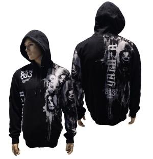 Yakuza Ink Kapuzensweatshirt Waiting Death HOB-11068 in schwarz