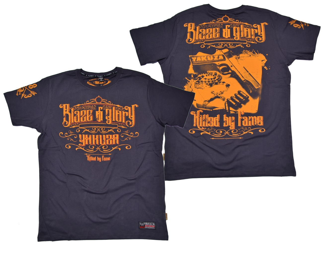 Yakuza Ink T-Shirt Blaze N Glory in dunkelgrau